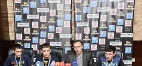 Press conference of gold medalists of Children's European Championship Kung Fu and Armenian Kung Fu Federation Chairman Sargis Harutyunyan