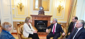 Armenian President Serzh Sargsyan in Vienna met with the EU High Representative, Vice-President of the European Commission Federica Mogherini and US Secretary of State John Kerry