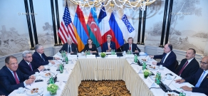 President of Armenia Serzh Sargsyan and of Azerbaijan Ilham Aliyev in Vienna participated in the discussions initiated by the Ministers of Foreign Affairs of the countries-Co-Chairs of the OSCE Minsk Group