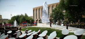 Opening of statue of Garegin Nzdeh in Yerevan