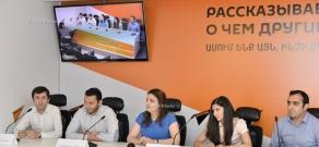 Press conference by Alexander Arutiunian Woodwind-piano quartet