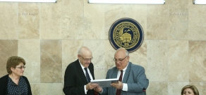 Ceremony of awarding title of Honorary Doctor of YSU to Spanish writer, publicist, architect Gonzalo Guarch