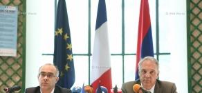 Press conference by German Ambassador to Armenia Matthias Kisler and French chargé d'affaires in Armenia Nicolas Faye