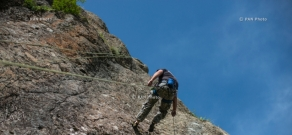 Rock climbing in Gomk village of Armenia's Vayots Dzor Province