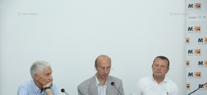 Press conference of Vardan Geravetyan, Alfred Kazartmyan and Armen Hasratsyan