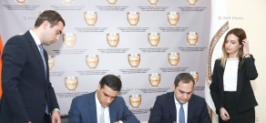 Signing of the Memorandum on cooperation between Chamber of Advocates and Human Rights Defender's office of Armenia