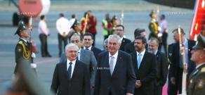 President of the Czech Republic Miloš Zeman arrives in Yerevan