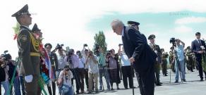 President of the Czech Republic Miloš Zeman visits Armenian Genocide memorial Tsitsernakaberd