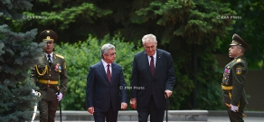 Welcoming ceremony for President of Czech Republic Miloš Zeman at RA Presidential Palace