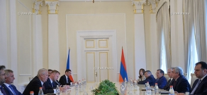 Armenian-Czech high-level negotiations in RA presidential residence