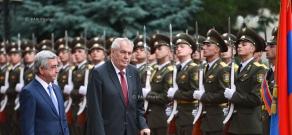 Official farewell ceremony of the President of Czech Republic Miloš Zeman