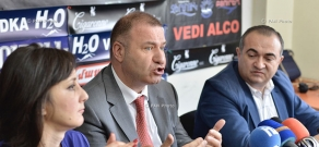 Press conference of Heritage party MP Tevan Poghosyan and Prosperous Armenia Party MP Mikael Melkumyan