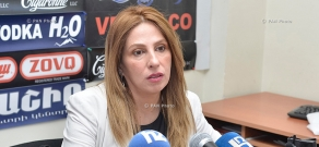Press conference of Heritage party's parliamentary group deputy Zaruhi Postanjyan