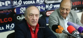 Press conference by writer, publicist Meruzhan Ter-Gulanyan and Armenia's Writers Union chairman Edward Militonyan