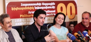 Press conference of Armenian National Philharmonic Orchestra (ANPO)