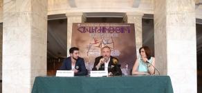 Press conference by director, son of Henri Verneuil Patrick Malakian and ballet master Arman Julhakyan