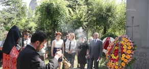 Commemoration ceremony on the day of perished for motherland and missing in action at Yerablur pantheon