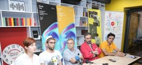 Press conference dedicated to the annual contemporary art and music festival HassFest