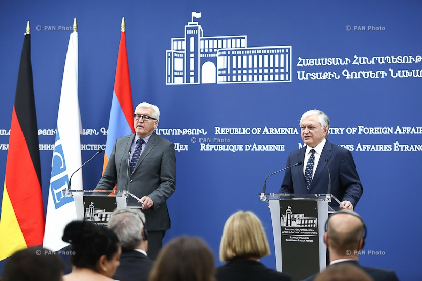 Joint press conference of Armenian Foreign Minister Edward Nalbandian and OSCE Chairman-in-Office, German Foreign Minister Frank-Walter Steinmeier