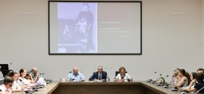 """Presentation of Armenian and Russian editions of the memoir """"Promise me, the Sea Knows"""" by V. Tsanko, as well as the monograph """"The Armenian Genocide in Literature: Echoes of second generation"""" by R. Pirumyan"""