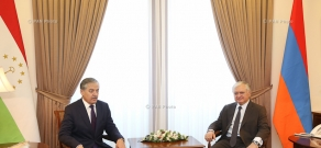 Meeting of Armenian Foreign Minister Edward Nalbandian and Minister of Foreign Affairs of Tajikistan Sirodjidin Aslov