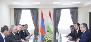 Extended meeting between Armenian Foreign Minister Edward Nalbandian and  Minister of Foreign Affairs of Tajikistan Sirodjidin Aslov