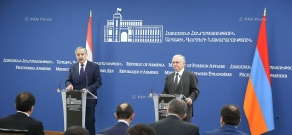 Joint press conference by Armenian Foreign Minister Edward Nalbandian and Minister of Foreign Affairs of Tajikistan Sirodjidin Aslov