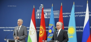 Press conference by Armenian Foreign Minister Edward Nalbandian and CSTO Secretary General Nikolay Bordyuzha