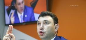 Press conference by Vice Speaker of Armenian parliament Eduard Sharmazanov