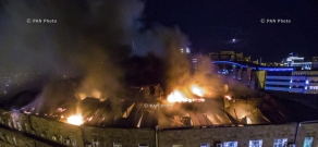 Fire at the roof of the Ministry of Finance of Armenia
