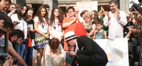 Opening of stars of Albert Yavourian, Edmond Keosayan and Dmitry Kesayants in Aznavour Square: 13th Golden Apricot Film Festival