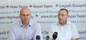 Press conference of Zhirayr Sefilyan's lawyers - Tigran Hayrapetyan and Varuzhan Avetisyan