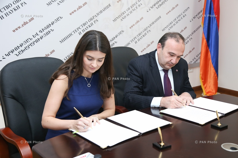 RA Ministry of Education and Science and Teach for Armenia foundation sign memorandum of understanding