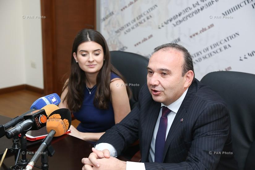 Министерство образования и науки РА и образовательный фонд Преподавай, Армения подписали меморандум о взаимопонимании