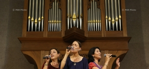 Concert of Zulal a cappella folk trio in Yerevan