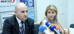Press conference of the Head of tourism and territorial economic development department at the RA Ministry of Economy Mekhak Apresyan and Areni Fest Foundation director Nune Manukyan