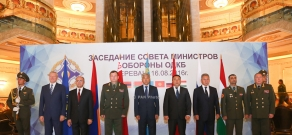 A session of the CSTO Council of Defense Ministers