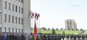 Official welcoming ceremony for Defense Minister of Belarus Andrei Ravkov