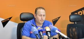 Press conference of Hovhannes Khangeldyan, Head of RA MES Crisis Management Center