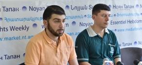 Press conference by 'Heritage Party' spokesman Davit Sanasaryan and party member Hovsep Khurshudyan