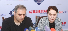 Press conference by NKR Supreme Council foreign relations committee expert Larisa Alaverdyan and  Doctor of political science Hayk Martirosyan