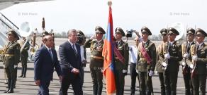 Official welcoming ceremony for  Georgia's Prime Minister Giorgi Kvirikashvili