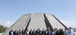 18th Global Child Nutrition Forum's members visit Tsitsernakaberd Memorial Complex
