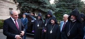 Artsakh President  Bako Sahakyan receives members of the Supreme Spiritual Council of the Armenian Apostolic Church