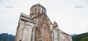 Hrashapar ceremony at Gandzasar monastery with participation of Catholicos of All Armenians Karekin II and members of Supreme Spiritual Council