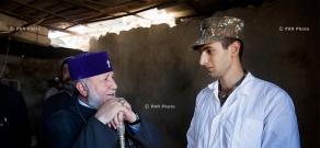 Catholicos of All Armenians visits Karabakh frontline