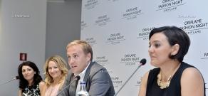 Oriflame Fashion Night nears: Press conference of Niklas Palmqvist, Linda Wolter, and Naira Margaryan