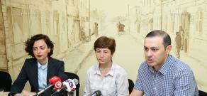 Press conference of Sona Ayvazyan, Lena Nazaryan and Tigran Yegoryan