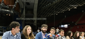 Press conference of conductor Sergey Smbatyan and members of Generation of Independence orchestra and choir