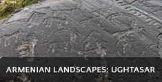 Armenian landscapes: Ughtasar, petroglyphs dating back to VII - II millennia BC